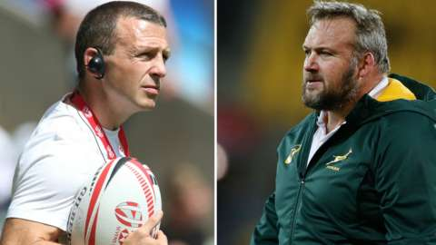 England's new look backroom team include England Sevens boss Simon Amor and former South African coach Matt Proudfoot