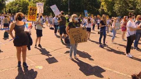 Glasgow nurses protest