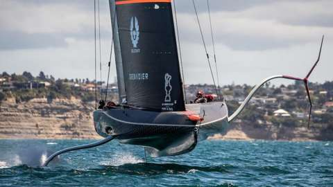 TEAM INEOS UK prepare for the 36th America's Cup in New Zealand.