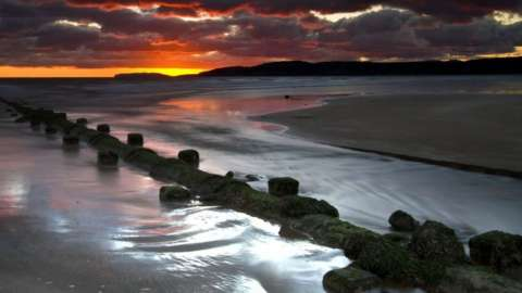 Benllech, Anglesey at sunset