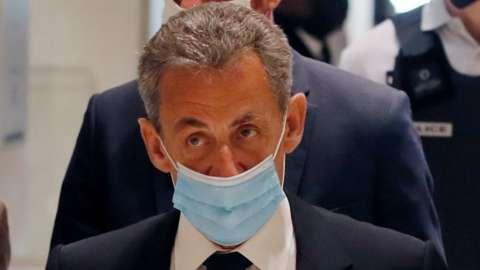 Nicolas Sarkozy in court in Paris, 1 March 2021