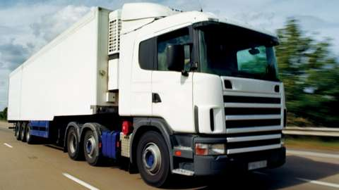 Stock image of a lorry