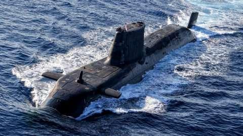 A UK Astute Class nuclear-powered submarine
