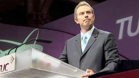 Tony Blair speaking as Prime Minister