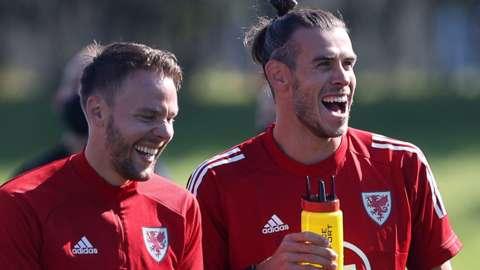 Chris Gunter (left) with Gareth Bale