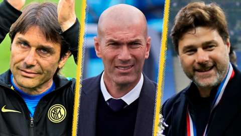 Antonio Conte, Zinedine Zidane, Mauricio Pochettino