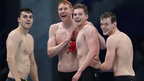 Team GB swimmers
