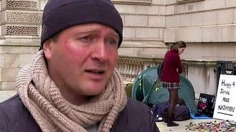 Richard Ratcliffe outside Whitehall