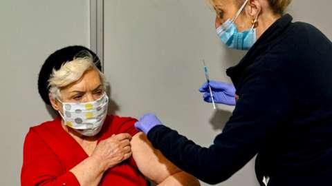 Athens vaccination centre, 15 Feb 21