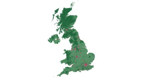 Graphic of land use types in the UK