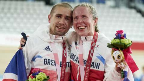 Neil and Lora Fachie celebrate