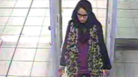 CCTV of Shamima Begum at Gatwick Airport in February 2015