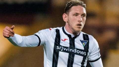 Dunfermline striker Declan McManus