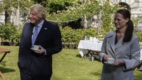 Boris Johnson and Jenny McGee