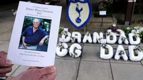 The Order of Service for the funeral of Jimmy Greaves