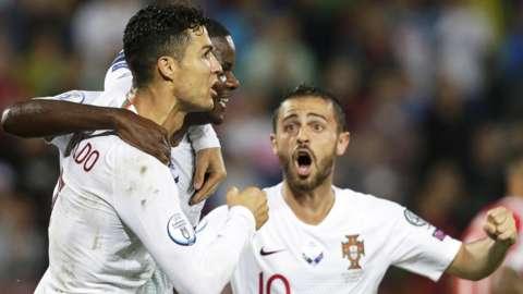 Cristiano Ronaldo, William Carvalho, Bernardo Silva