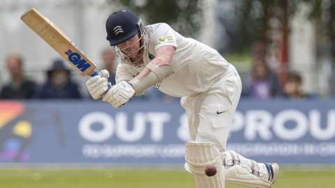 Middlesex batsman Sam Robson was 138 not out overnight at Merchant Taylors'