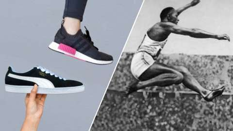 Adidas and Pumas sneakers and Jesse Owens at the Berlin Olympics