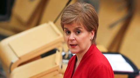 First Minister Nicola Sturgeon makes a statement to the Scottish Parliament