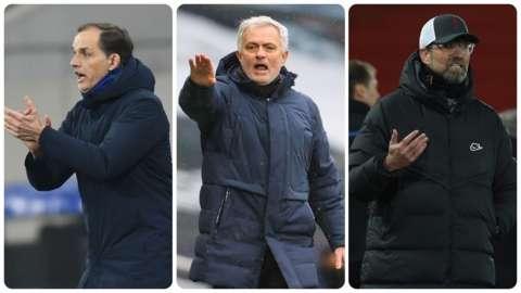Thomas Tuchel, Jose Mourinho and Jurgen Klopp