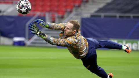 Peter Gulacsi plays in goal for Bundesliga club RB Leipzig and for his national team