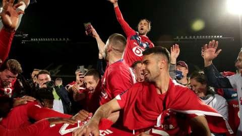 Lille celebrate win