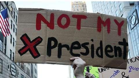 Anti-Trump demonstration in Manhattan