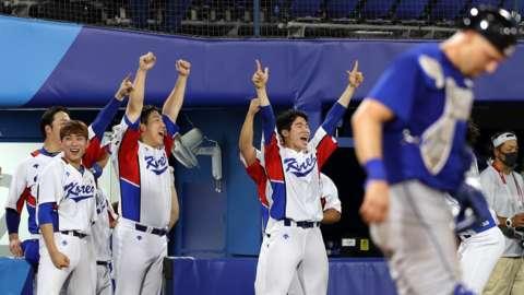 South Korea celebrate