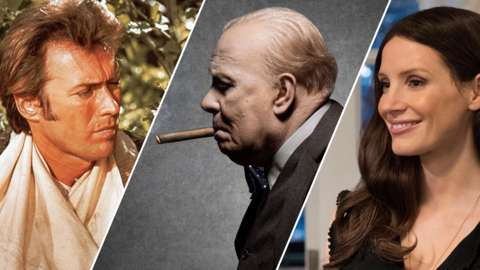 Stills from Paint Your Wagon, The Darkest Hour and Molly's Game