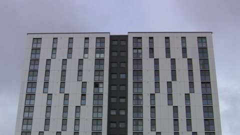 A tower block in Manchester