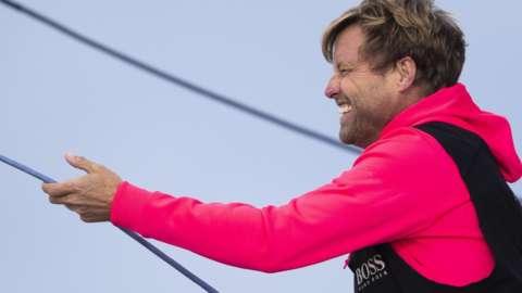 Alex Thomson on board Hugo Boss