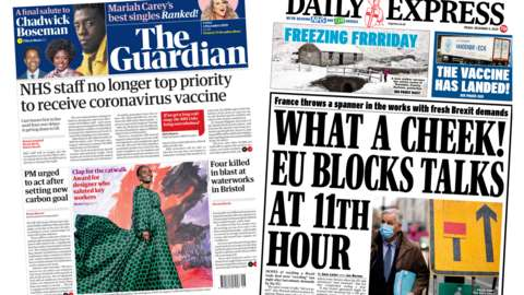 Guardian and Daily Express