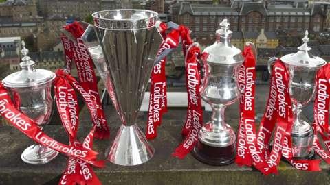 Scotland's four senior league trophies