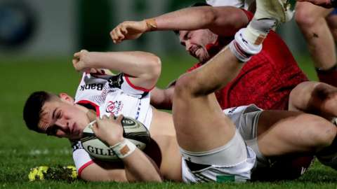 James Hume has mixed memories of his Ulster debut against Munster in September 2018