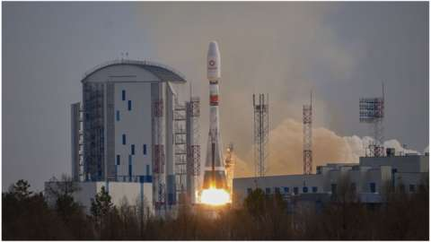 The satellites went up on a Soyuz rocket from the Vostochny Cosmodrome