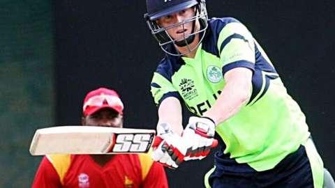 Ireland's Kevin O'Brien batting against Zimbabwe