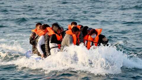 Asylum seekers crossing the English Channel in 2019