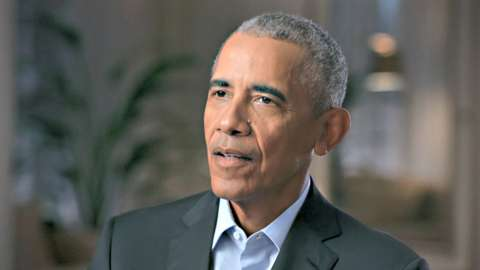 Close up of Barack Obama talking