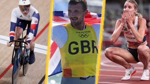 Great Britain's Jason Kenny, Giles Scott and Keely Hodgkinson
