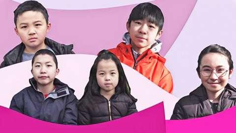 Screenshots of Chinese British children from Newsround video