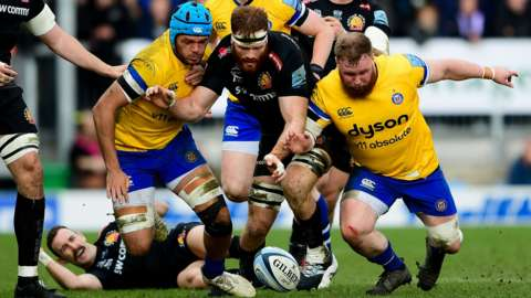 Premiership match between Bath and Exeter Chiefs