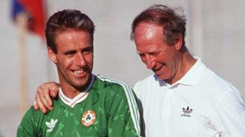 Mick McCarthy and Jack Charlton
