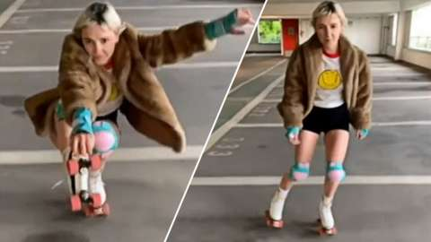 Alicia dancing with roller skates