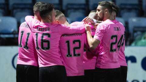 Inverness celebrate Kai Kennedy's opener at Palmerston