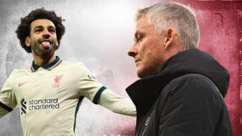 Liverpool's Mohamed Salah and Man Utd's Ole Gunnar Solskjaer