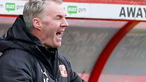 Swindon Town manager John Sheridan