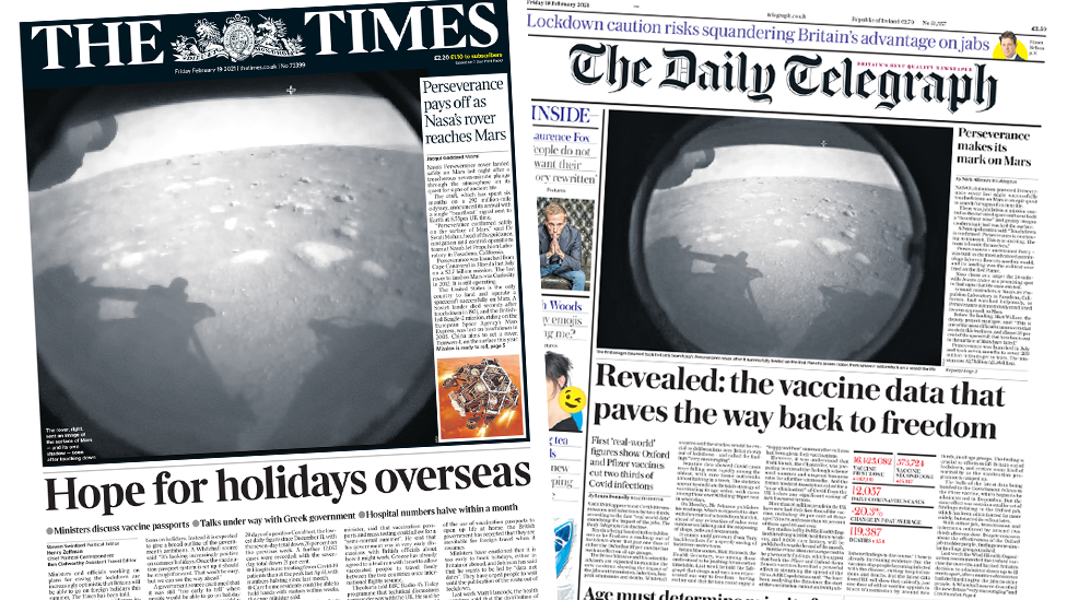 The Papers 19 February 2021
