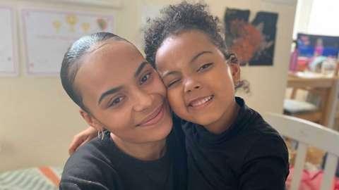 Kychia and her daughter Alyssa
