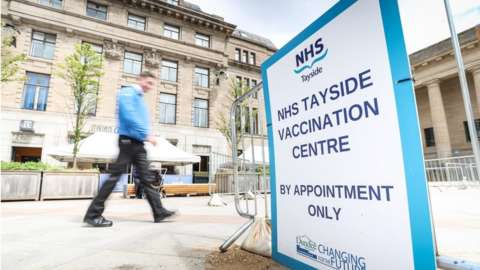 Tayside vaccination sign