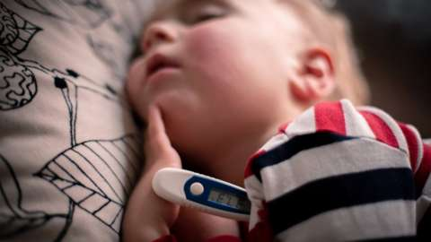 Infant with a fever